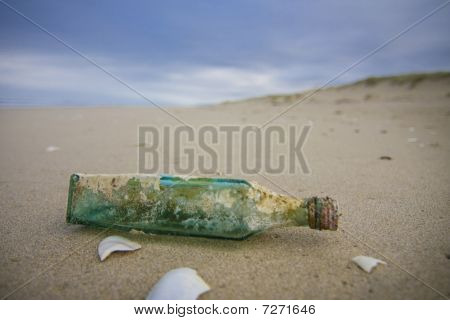 Message In A Bottle Beached