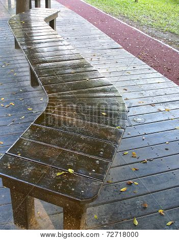 The curved bench