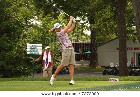 Kristy McPherson At USGA Women's Open Golf Tournament Practice Rounds 2009