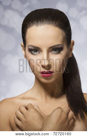 Beauty Photo Of A Brunette Girl
