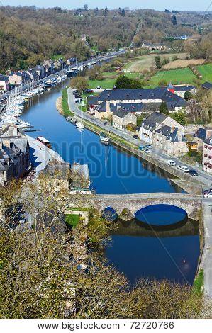 Banks Of Rance River (dinan Town, France).