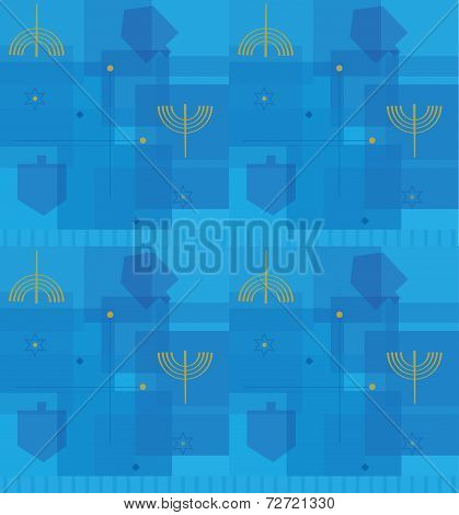 Hanukkah Abstract Pattern