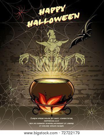Happy Halloween vector card design