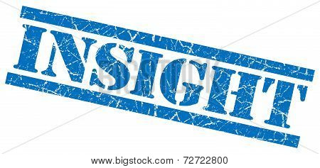 Insight Blue Grungy Stamp On White Background