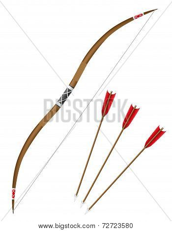 Bow And Arrows Vector Illustration