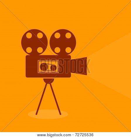 Video Vintage Retro Single Icon