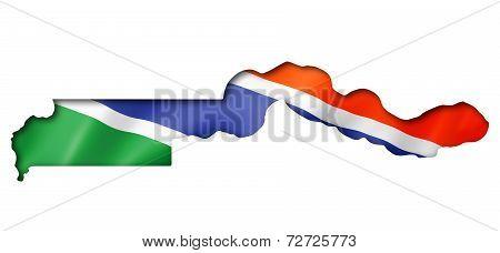 Gambian Flag Map