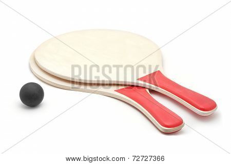 Beach Paddles And Ball