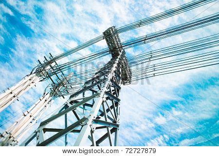 Power lines tower