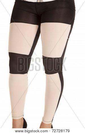 White Black Leggings Style
