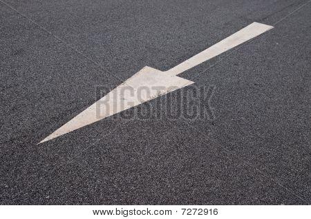 Arrow On The Pavement