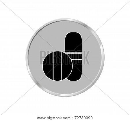 Medical Pill. Vector Illustrator Eps 10