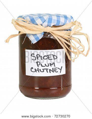 Homemade Chutney On White