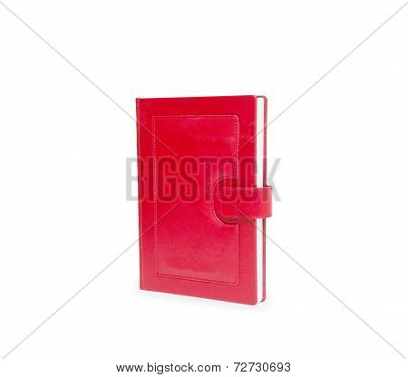 Red Book On White Background