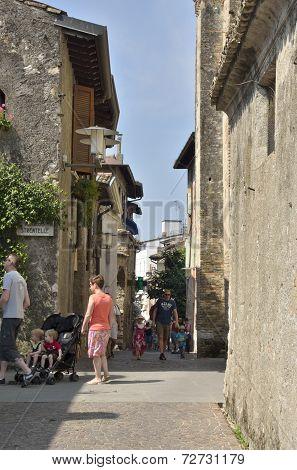 Medieval Street In Sirmione