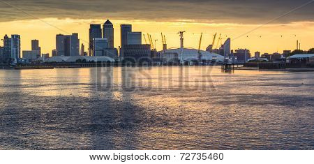 Canary Wharf And O2 Arena