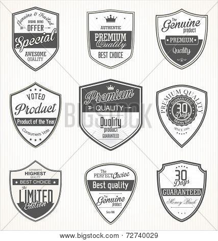 Premium Quality Retro Vintage Badges