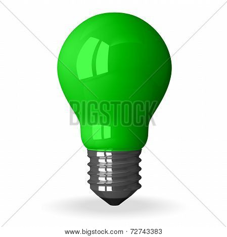 Green Tungsten Light Bulb Standing