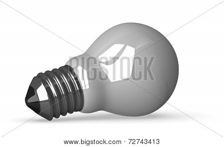 White Tungsten Light Bulb Lying