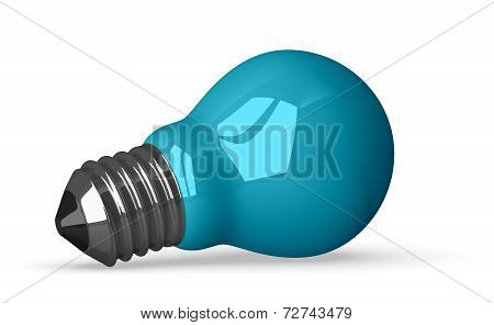 Blue Tungsten Light Bulb Lying