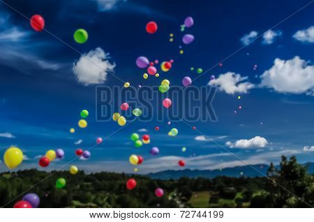 Tilt Shift Balloon Release