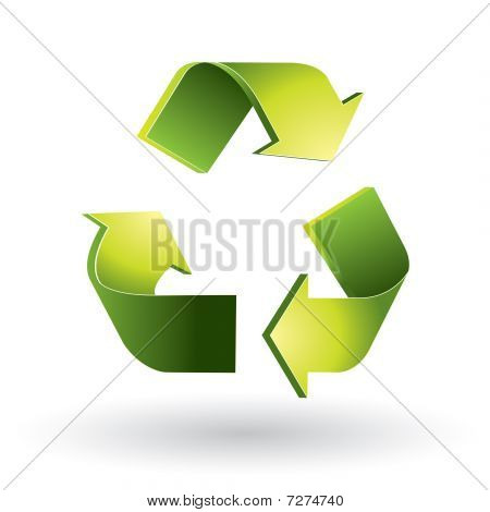 Recycling symbool 3D