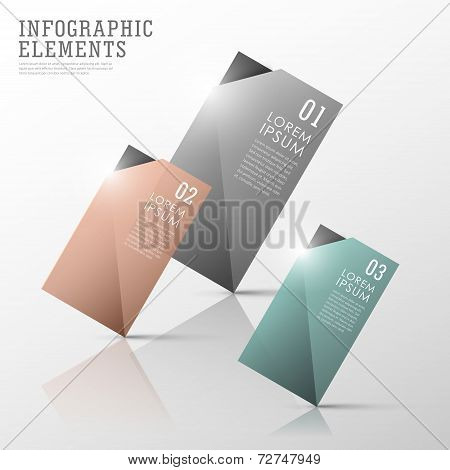 Colorful Translucent Tag Infographic Elements Set