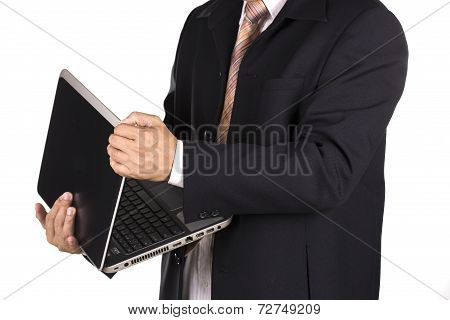 Businessman With Lap Top
