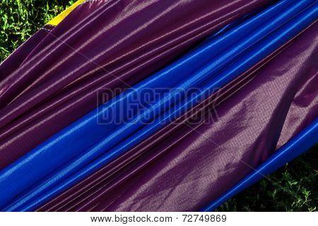 Closeup of purple balloon fabric