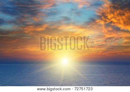 Sunrise Over The Sea