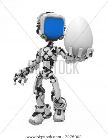 Blue Screen Robot, Egg