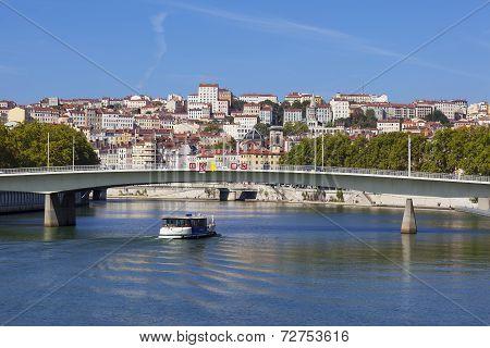 View On Lyon And Saone River