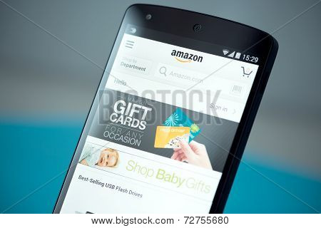 Amazon Website On Google Nexus 5