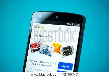 Ebay Website On Google Nexus 5