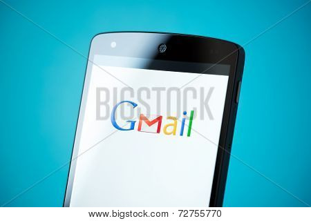 Gmail Logo On Google Nexus 5