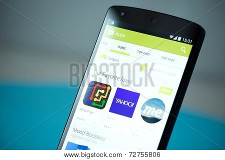 Google Play Store On Google Nexus 5