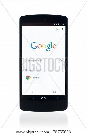 Google Search Webpage On Google Nexus 5