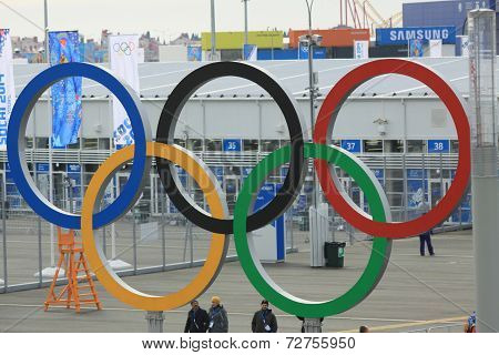 SOCHI  RUSSIA - FEBRUARY 2014: Olympic winter games