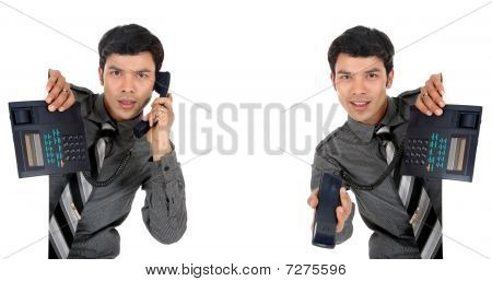 Asian Businessman Phone