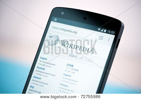 Wikipedia Website On Google Nexus 5