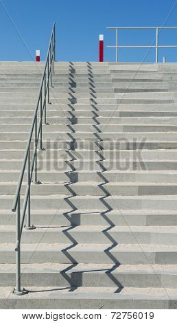 Concrete Stairs At Beach