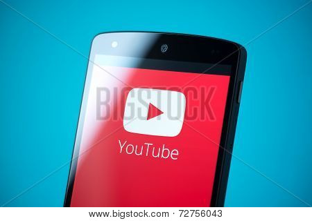 Youtube Logo On Google Nexus 5