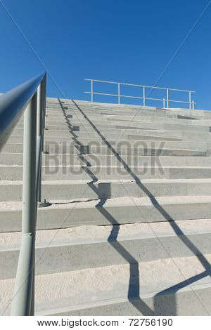 Concrete Stairs With Handrail
