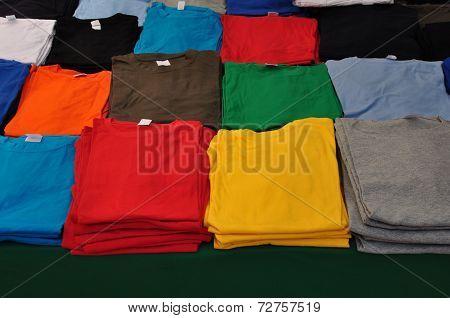 Folded T-shirts