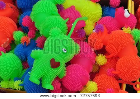 Plastic Toys Background