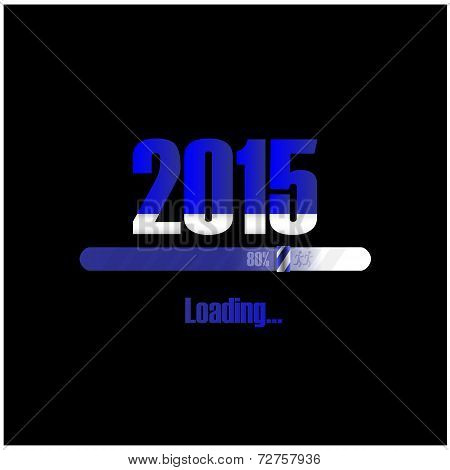 New Year 2015 Loading Background, Happy New Year Template