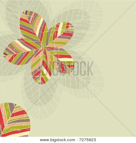 Background with abstract grunge flowers . Vector illustration