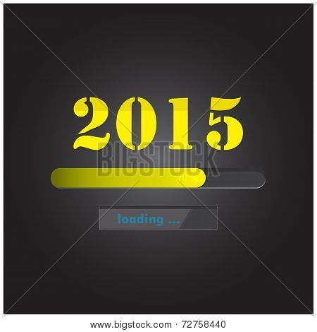 New Year 2015 Loading Background,happy New Year Template.