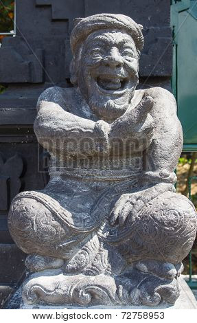 Stone Sculpture Representing The Old Man