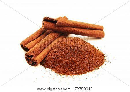 Cinnamon Sticks Isolated